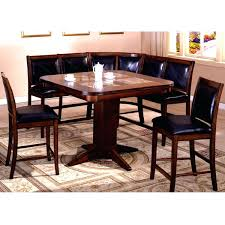 Pub Style Dining Room Sets Table Delightful Charming Brown Square Modern Glass