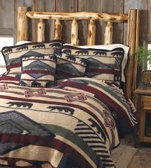 Yuma Bear Blanket featuring Bears and Native American Patterns