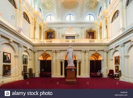 100 Design House Victoria Queens Hall In Parliament Melbourne With A Statue