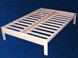 Latest Full Size Platform Bed Frame Furniture Nature Wood Flat