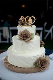 70th Anniversary Cake Topper Personalized Rustic Wedding Unique 50th