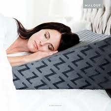 gel infused memory foam wedge pillow comfort adjustable bed back