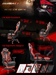 Homall Gaming Chair With Thickened Footrest Ergonomic Swivel Racing  High-Back Bucket Seat, Premium PU Leather, Reclining, Hydraulic Height  Adjustment, ... Best Pc Gaming Chair 2019 9 Comfortable Ergonomic Boys Stuff Chairs Gadgets Gifts More Akracing Core Series Exwide Black Floor Australia Cheap Extreme Rocker Find Coolest Mikey Lydon Thegamingpro Top 10 Best Gaming Chairs Tables Accsories Playtech For Big Men The Tall People Ace Bayou V 51301 Se Video Wireless With Grey I Just Finished My Wood Sim Rig Simracing Ak Racing K7012 Officegaming Ackblue
