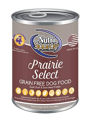NutriSource Grain Free Prairie Select Canned Dog Food, 13 oz