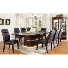 7 Piece Dining Room Set Walmart by Furniture Of America Damore Contemporary 7 Piece High Gloss Dining
