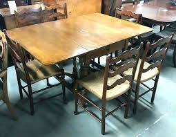Hidden Leaf Table Drop And 6 Chairs Wood Dining W Extension