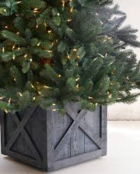 Rustic Wooden Rolling Tree Stand Alt