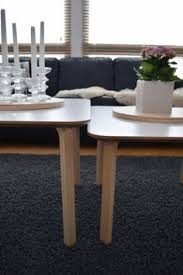 i used two frosta stools and two billsta table tops to make a nice