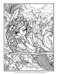 Coloring Books FREE Hannah Lynn SAMPLE PAGE Maui Mermaids INSTANT DOWNLOAD