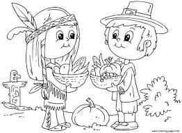 Printable Thanksgiving November Kid Coloring Pages