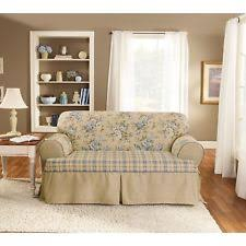 Sure Fit Scroll T Cushion Sofa Slipcover by Sure Fit Floral Furniture Slipcovers Ebay