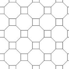 shapes that tessellate octagons and squares grid blue and
