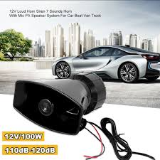 100W Watt Car Horn Siren PA System 12V Loud Megaphone + Mic ... 12v Loud Horn Car Van Truck 7 Sound Tone Speaker With Pa System Mic Lm Cases Products Hot 80w 5 Siren 12v Warning Megaphone Soroko Trading Ltd Smart Gadgets Electronics Spy Hidden Mese 12 Inch Professional Trolley S 12d With New 115db Air For Boat Sounds Pa Best 2017 Wolo 4000 Alert Northern Tool Equipment Optimum Cable Service In Brooklyn Editorial Image Of How To Wire A Truck Youtube 100w Auto Max 300db