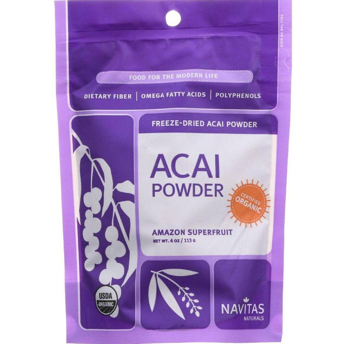 Navitas Naturals Organic Acai Powder Supplement - 120ml