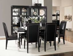 Black Dining Room Table And Chairs Furniture DVFUPMK