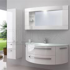 oimexgmbh design badmöbel set côte d azur weiß hochglanz waschtisch 120cm inkl seitenschrank armatur und spiegel badezimmermöbel set mit glas