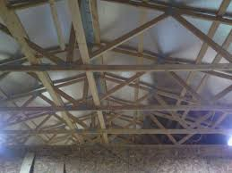 Hanging Drywall On Ceiling Trusses by Ceiling Storage In A Pole Barn How Much Is Too Much By
