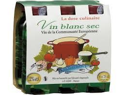 vin blanc sec cuisine vin blanc sec de cuisine la dose culinaire casino 6 x 25 cl
