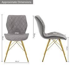 duhome 2er set esszimmerstuhl stoff samt grau gesteppt konferenzstuhl vintage design stuhl retro
