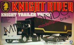 KIT KNIGHT RIDER Trailer Truck Serie Tv Supercar 1/28 Aoshima 03066 ...