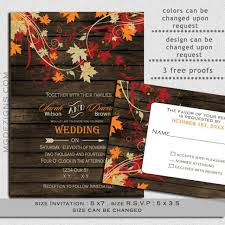 Printable Rustic Barnwood Fall Leaves Wedding Invitations And Rsvp Template 2351245