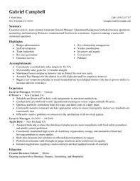Fast Food Manager Resume Sample Dadaji Us Rh