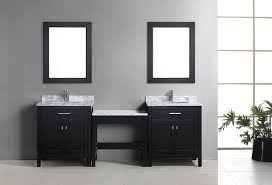 two 30 london single sink vanity set in espresso and one make up