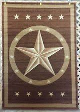 Western Texas Star Country Rustic Southwestern Lodge Cabin Area Rug Carpet