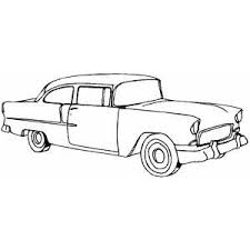 Classic Typical Car Coloring Sheet