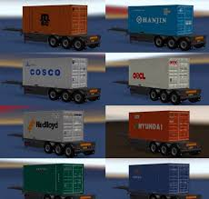 Trailer Pack Container 20ft V 2.0 For ATS - ATS Mod | American Truck ...