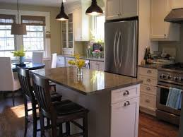 Galley Kitchen Remodel To Open Concept Elegant Pictures Small Island With Seating On End