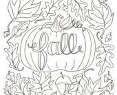 Coloring Pages Fall For Adults To Download And Print Free
