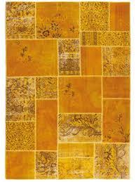 Antalya Yellow Modern Carpet Made Of Pure Virgin Wool