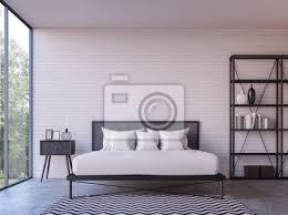 moderne loft schlafzimmer mit blick auf die natur 3d rendering bild bilder myloview