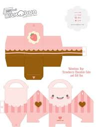 Kawaii Food Papercraft Templates Invitation