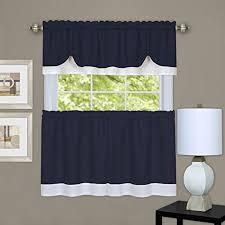 Amazon Lace Kitchen Curtains by Kitchen Curtains Set Amazon Com