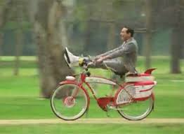 Pee Wee Herman Riding Bike Gif
