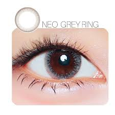 NEO Grey Ring Prescription 6 Month Contact Lenses StunningLens