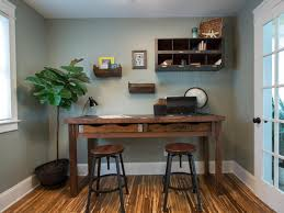 Image Of Rustic Office Desk Color