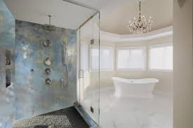 Bathtub Refinishing Training Videos by Shower And Accent Wall Epoxy Metallic Coatings Easy Diy Kits