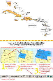 Caribbean Islands PowerPoint Map Capitals