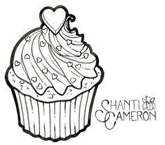 Black Heart Cupcake Tattoo Stencil By Shanti Cameron