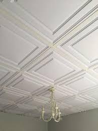 mineral fiber tiles were refaced using ceilume s white cambridge