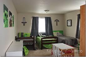 Keeping It Simple Minecraft Boy S Room Decor Idea Large Wood
