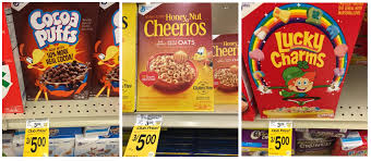 Here Is A Hot New Unadvertised Sale On General Mills Cereal At Safeway Cocoa Puffs Trix Lucky Charms Honey Nut Cheerios And Multi Grain Are