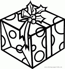 Christmas Present Coloring Pages Throughout Gift