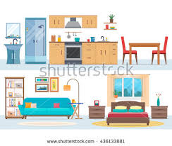 Bedroom Clipart by Bedroom Clipart House Interior Pencil And In Color Bedroom