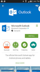 Outlook app on Android Set up email