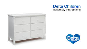 Hemnes Dresser Instructions 3 Drawer by Delta Children Canton U0026 Eclipse Dresser Assembly Video Youtube