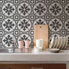 tile stencils stencil your tile floor to look like cement tiles